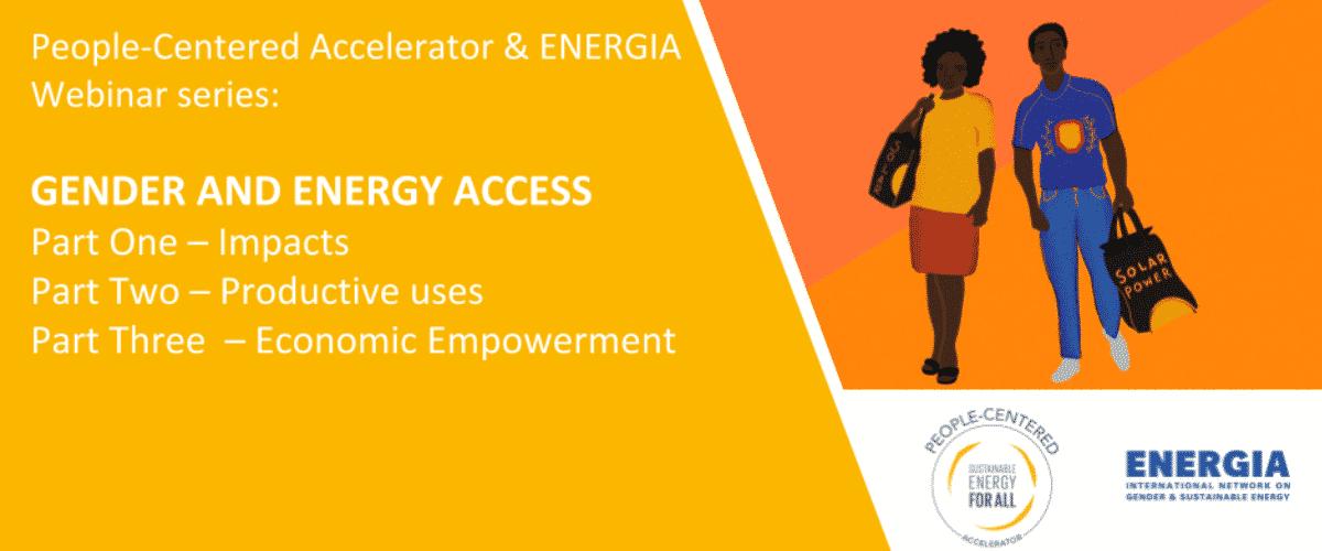 Webinar: Three-part webinar series on Gender and Energy Access