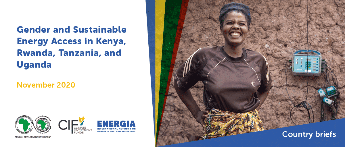 ENERGIA, the African Development Bank, and the Climate Investment Funds join efforts to strengthen gender in the energy sector in Africa