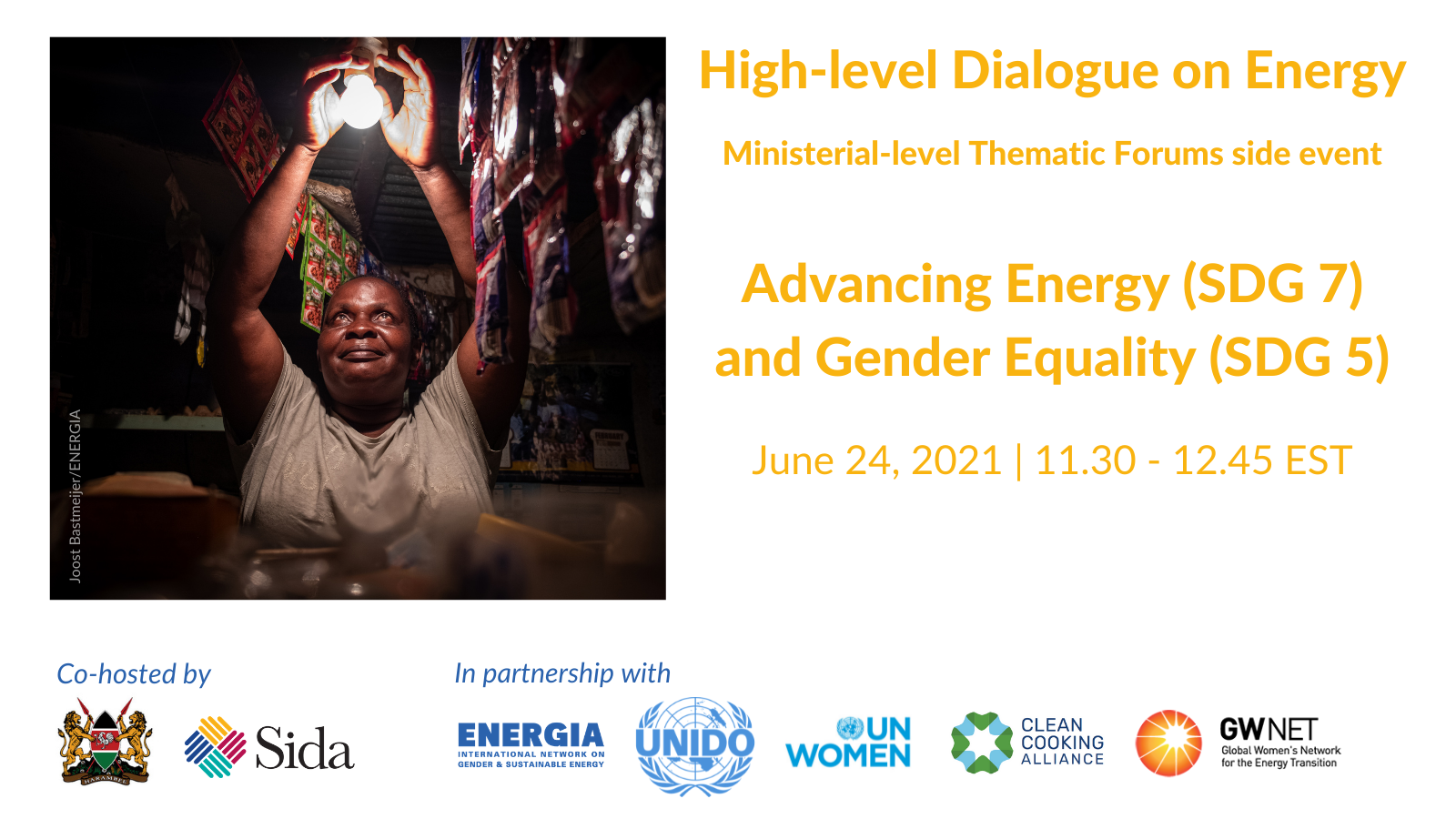 Ministerial-level Thematic Forums side event: Advancing Energy (SDG 7) and Gender Equality (SDG 5)