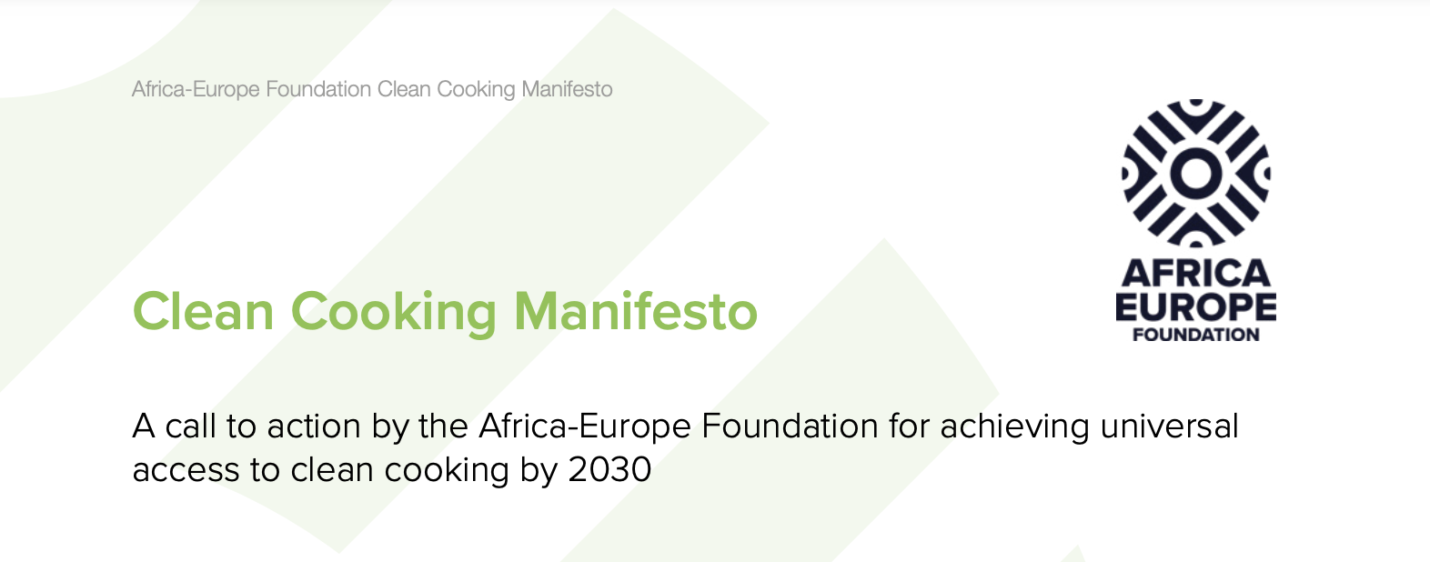 ENERGIA supports the Africa-Europe Foundation Clean Cooking Manifesto