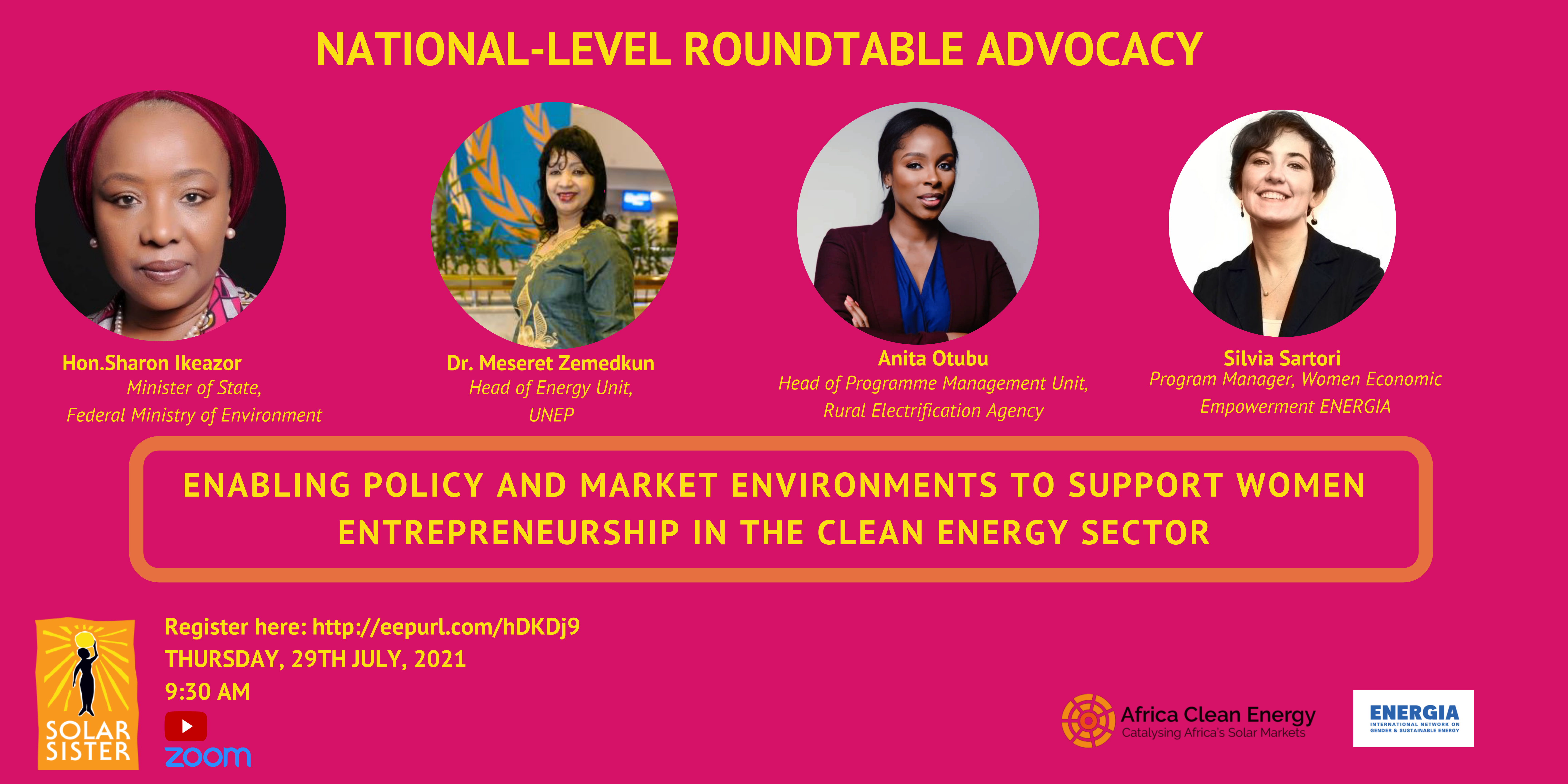 Event: Enabling policy and market environments to support women entrepreneurship in the clean energy sector