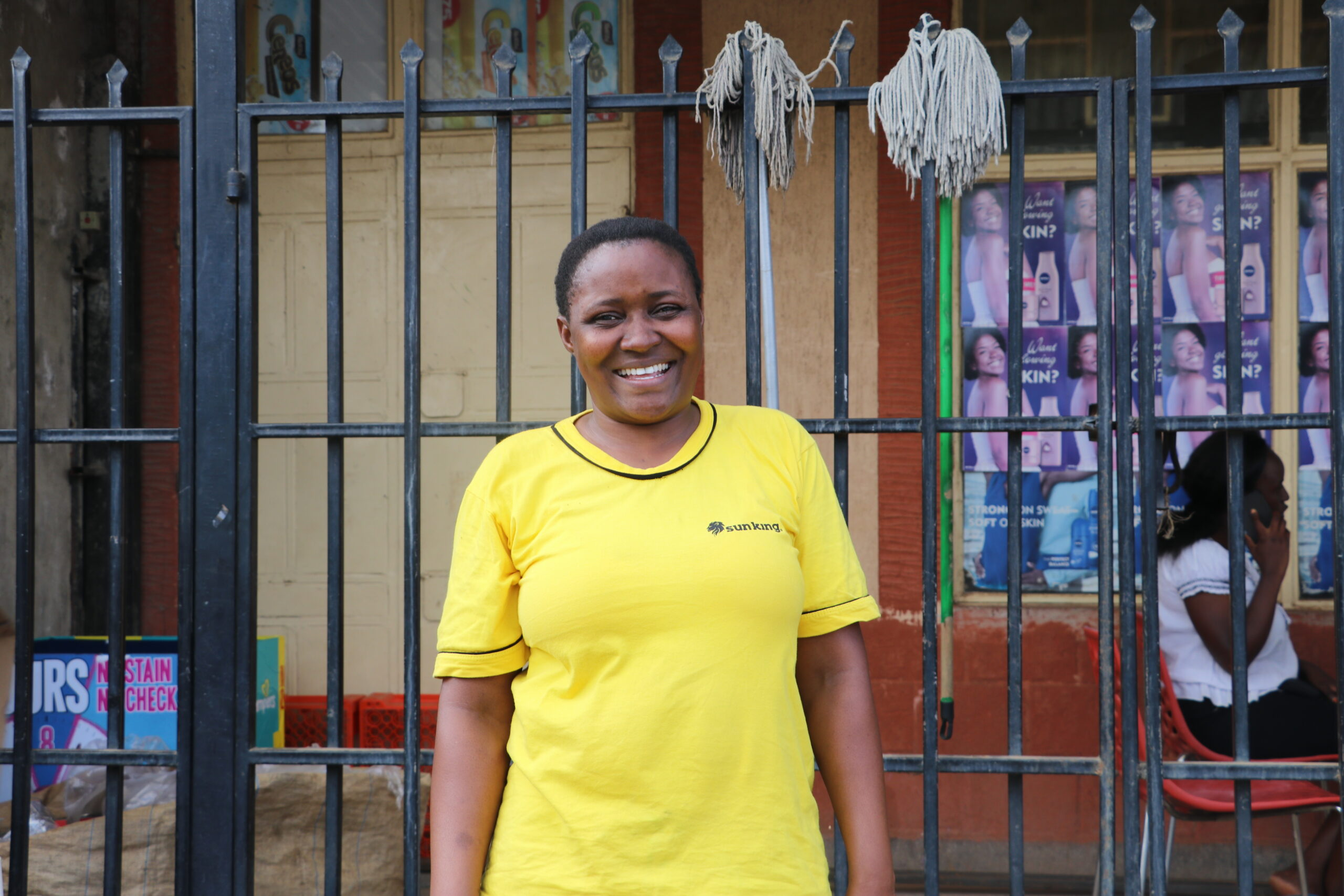 Rebecca is promoting productive uses of energy to enhance livelihoods in her community