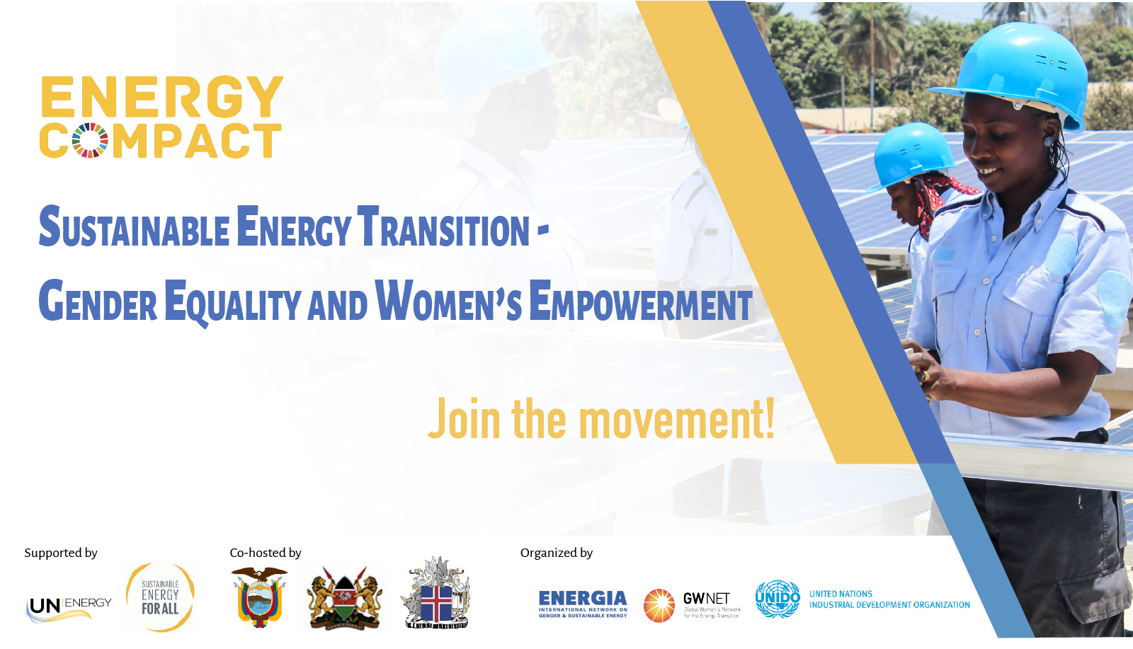 Join the Gender Energy Compact Coalition!