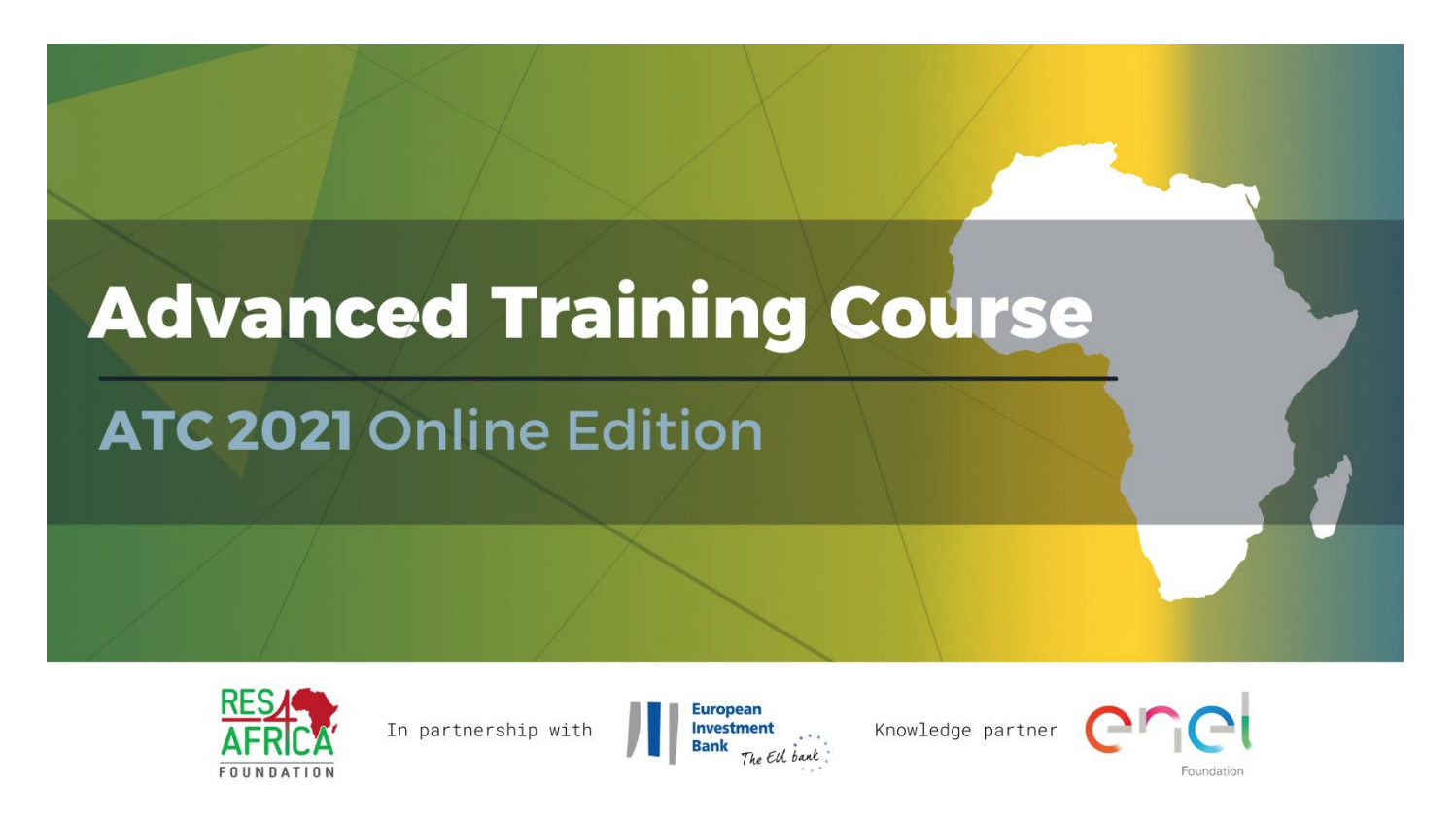 Training Opportunity: Advanced Training Course (RES4Africa Foundation)